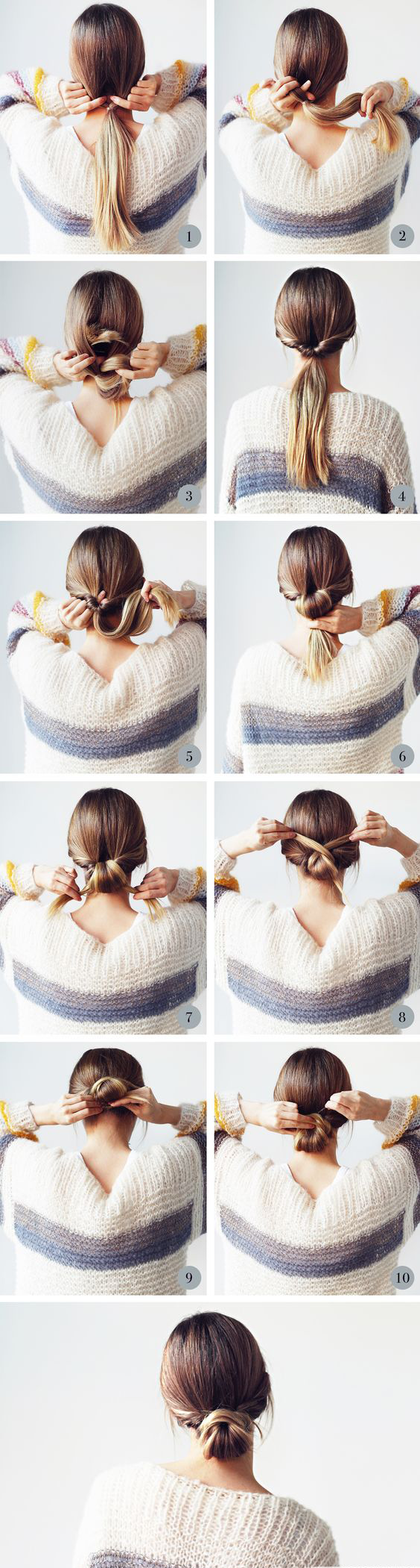 How to Braid Messy Bun