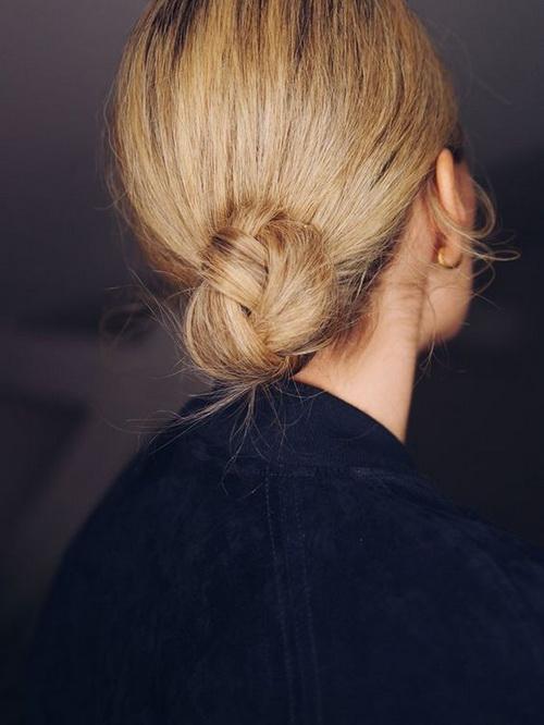 Short Hair Chignon Style