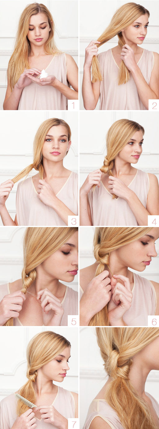 How to braid knot pony