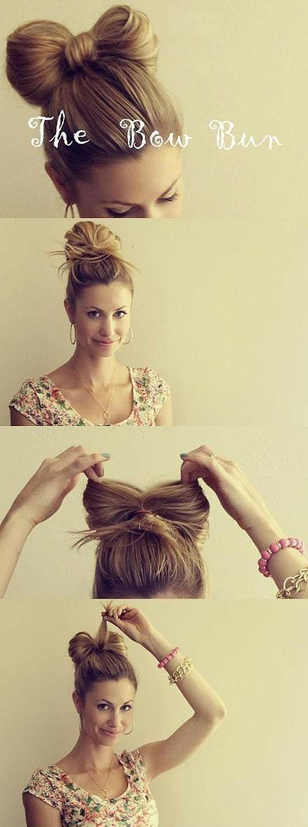 How to braid the bow bun